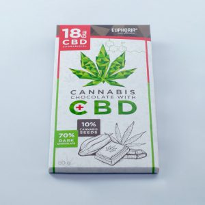 Euphoria - Cannabis Schokolade + CBD 18mg - 80g
