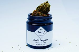 Bubble Gum CBD Blüten im Glas