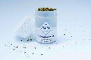 Chameleon CBD Blüten Zuckerrohr Verpackung