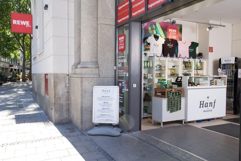 Hanf im Glück Shop Eingang München