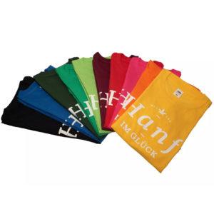 Hanf im Glück T-Shirts für Fans in verschiedenen Farben