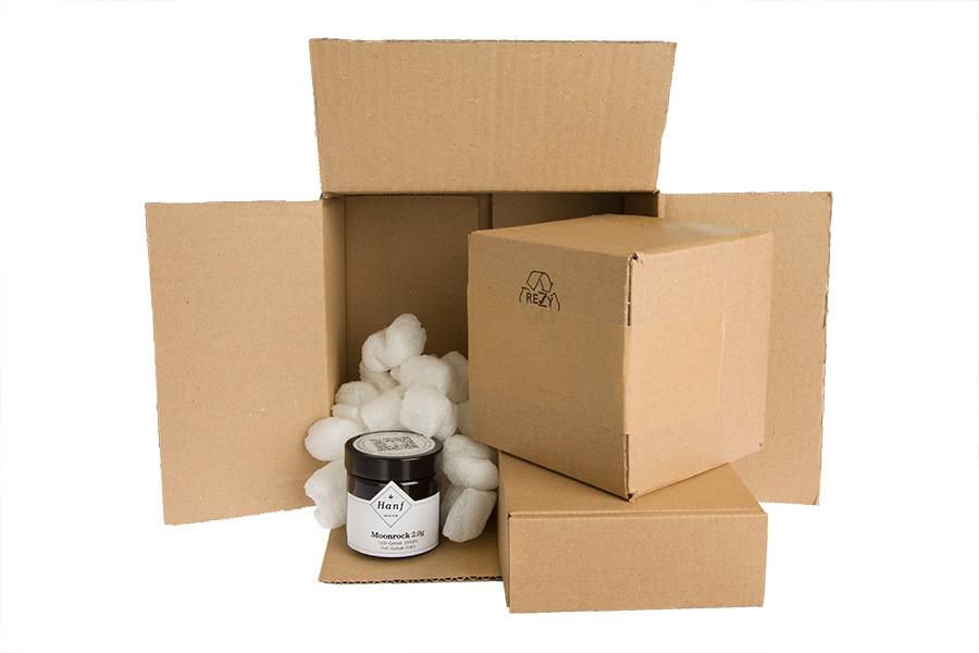 Hanf im Glück diskrete, sichere und recycle Kartons