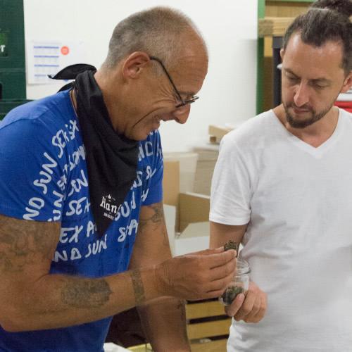 Ralf Kannheiser mit Geschäftspartner